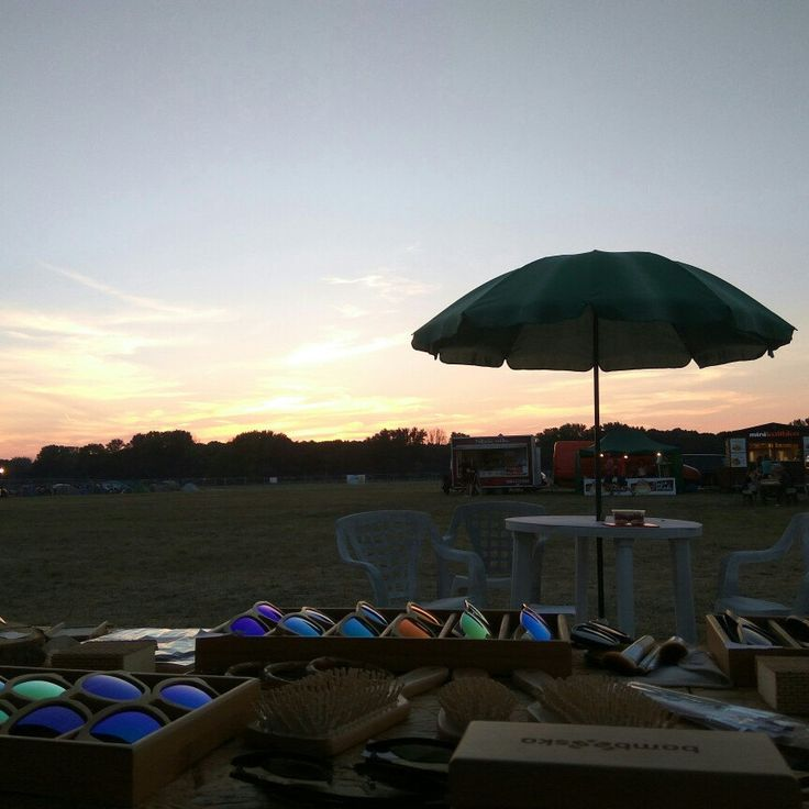 Sunset over the weekend summer festival. 💚👍😊