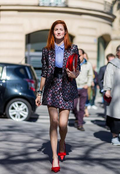 News Photo : Taylor Tomasi Hill outside Miu Miu on October 5,...