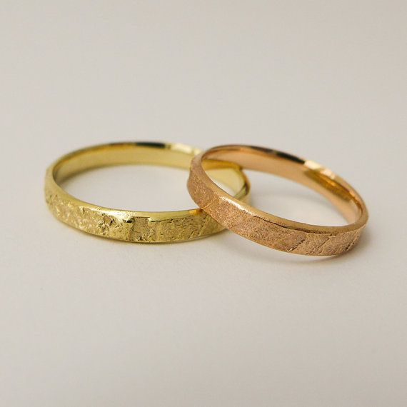 Mens wedding ring gold and Groom wedding rings