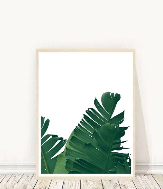 Prints from $7.92 on Etsy Banana Leaf printable Banana Leaf Wall Art Tropical Decor