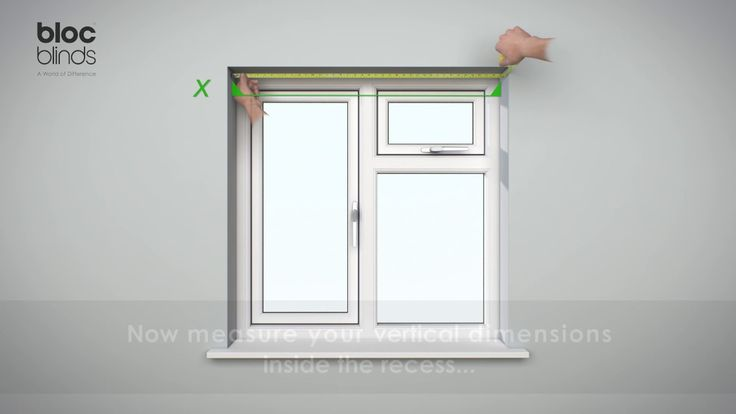 How to measure for a Roller Blind fitted into the recess