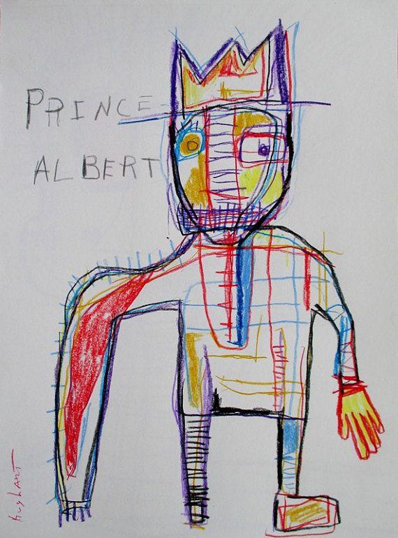 9 x 12 inch original Jeff HUGHART abstract by ARTbyjeffhughart