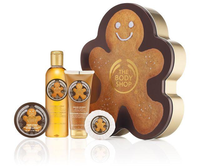 Paket perawatan tubuh dan perlengkapan mandi dari The Body Shop dengan aroma Ginger Sparkle yang menghangatkan.