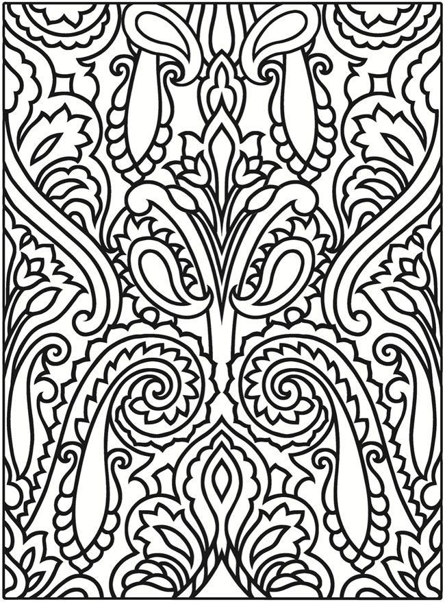 Paisley Designs Dover Publications Printable Coloring PagesAdult