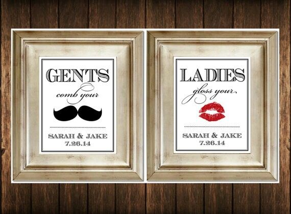 Bathroom Signs Wedding 34 best mr & mrs bathroom accessories images on pinterest