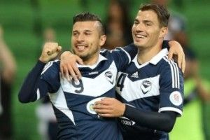 A first-half Kosta Barbarouses goal has earnt Melbourne Victory a crucial win over Yokohama F Marinos, keeping them alive in the Asian Champions League.