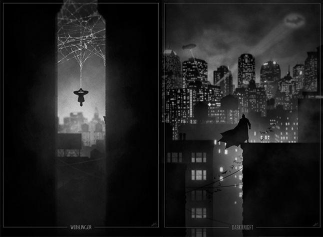 Superhero-Noir-Posters