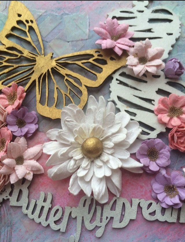 Memory Maze Design: Butterfly Dreams Canvas - by Toni Herron