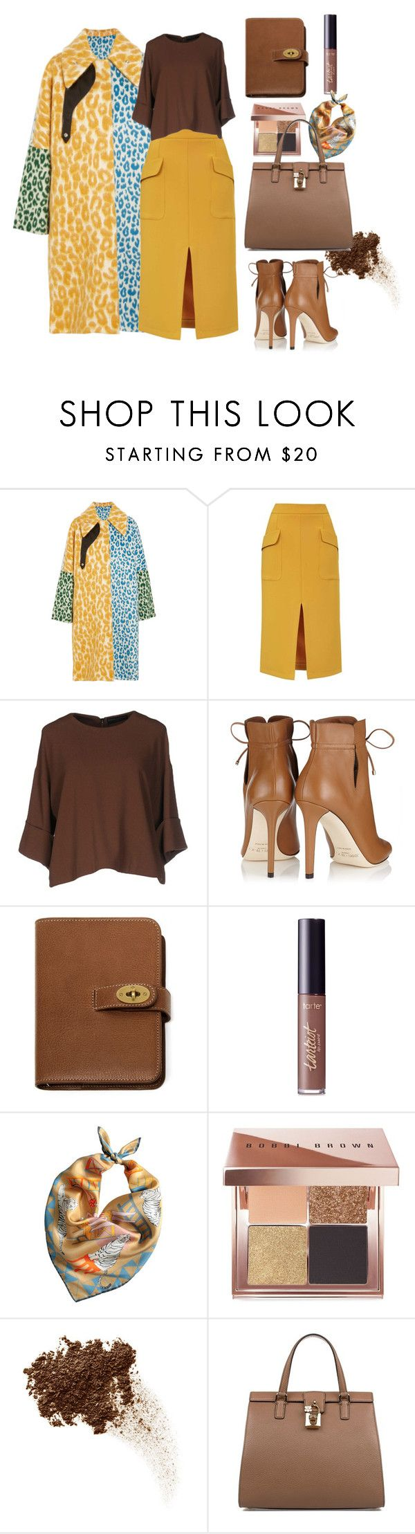 """Fall set"" by styleociety ❤ liked on Polyvore featuring Acne Studios, Topshop, Cristina Gavioli, Jimmy Choo, Mulberry, tarte, MABEL, Bobbi Brown Cosmetics and Dolce&Gabbana"