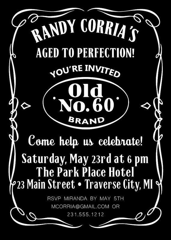 4ad02959080074ad9118a0c6c434466d jack daniels birthday half birthday 25 best invites images on pinterest,Adult Party Invitations
