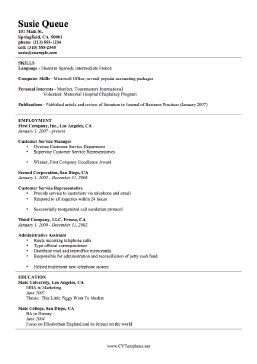 this free printable resume template is a basic curriculum vitae it outlines skills first - Free Print Resume