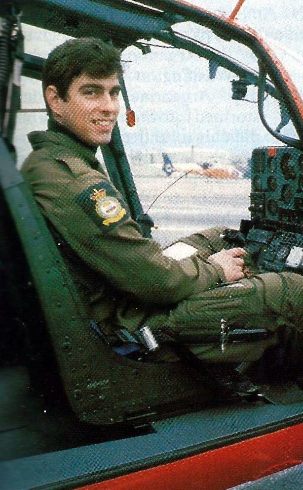 Prince Andrew in his chopper