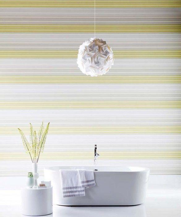 Lino papel de parede amarelo papel de parede tnt e for Striped kitchen wallpaper