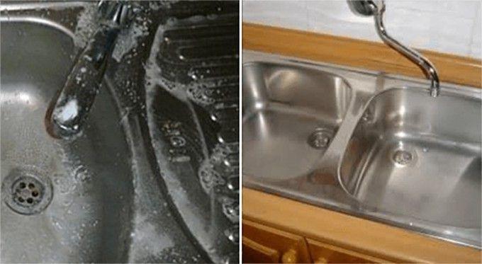 Hogyan tisztítsuk meg olcsón és hatásosan a konyhai mosogatót