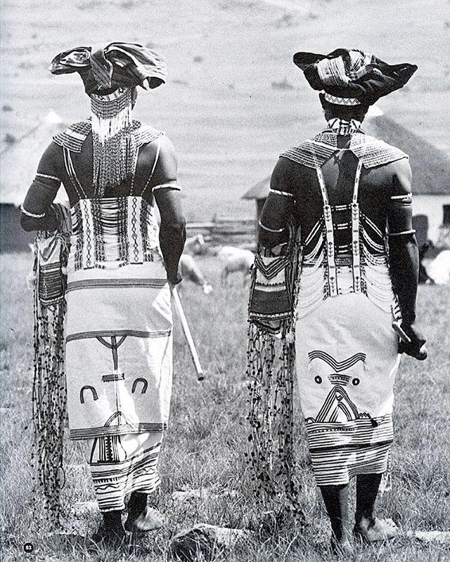 Extravagantly dressed Xhosa gentlemen showing off signature traditional attire of the AbaThembu clan. | #MyHeritageMyInheritance