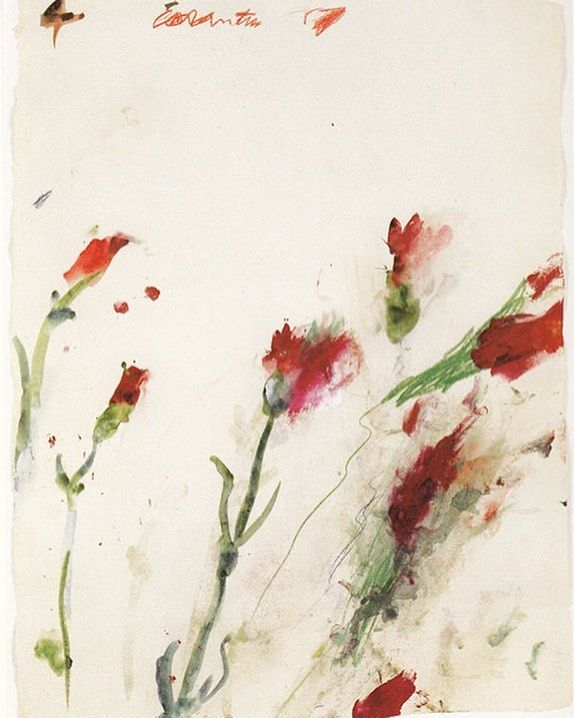 """#CyTwombly was born today 1928 in Lexington Virginia. """"Each line is now the actual experience with its own innate history. It does not illustrate  it is the sensation of its own realization."""" This is his work 'Untitled no. 4' from his 'Cremation Series' (1989). by artobserved"""
