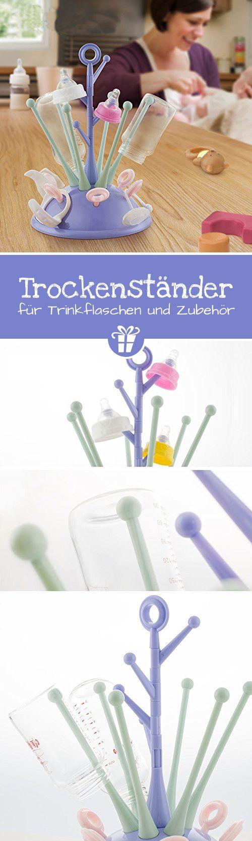 Ailina Trockenständer - praktisches Trocknen von bis zu 6 Flaschen und Zubehör, BPA-frei. Platzsparend, hygienisch und vielseitig. - lustige Geschenkideen | ausgefallene Geschenkideen | coole Gadgets | Geek Gadgets | Gadgets Gifts (*Partner-Link)