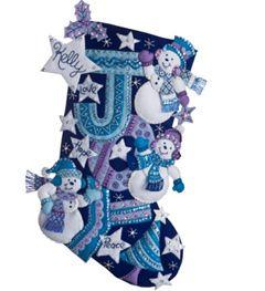 Bucilla ® Seasonal - Felt - Stocking Kits - Joy Snowmen