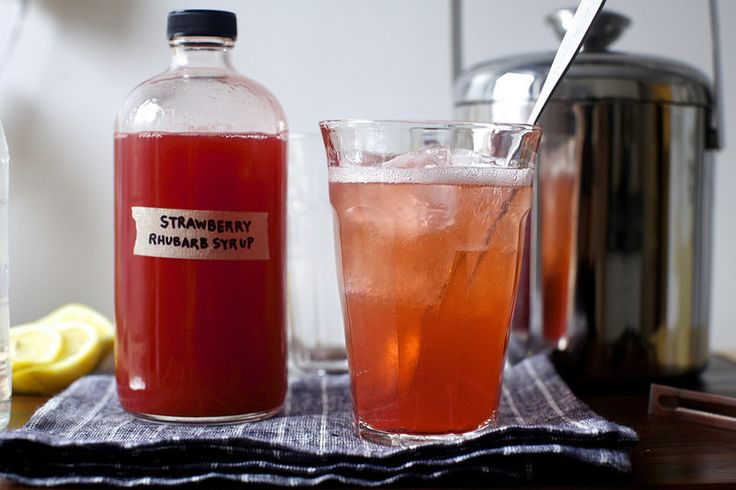 strawberry rhubarb soda syrup | Strawberry Rhubarb Soda Syru… | Flickr