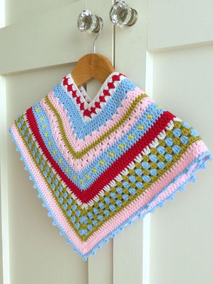 17 mejores imágenes sobre Crochet children poncho en Pinterest ...
