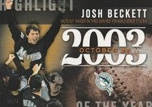 2015 Topps Baseball Highlight of the Year #H-28 Josh Beckett - Florida Marlins