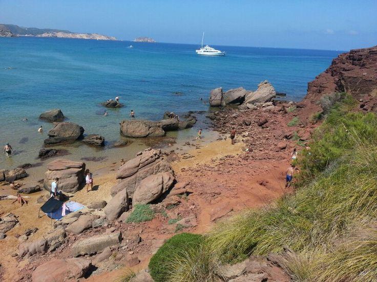 Minorca...Cavalleria beach. ..clay baths