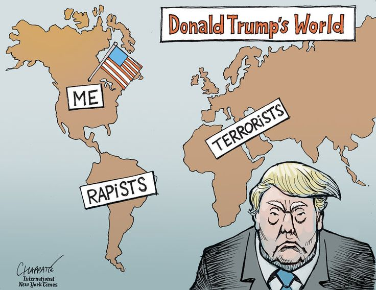 Image result for caricature trump attacks usa