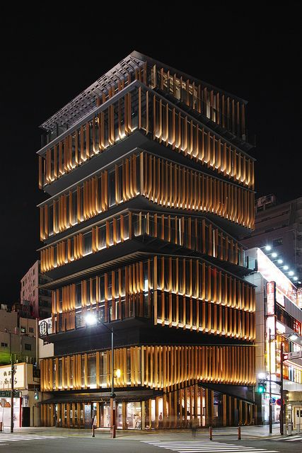 The Asakusa Culture Tourist Information Center, Tokyo, Japan, by architect Kengo Kuma. photo by guen-k