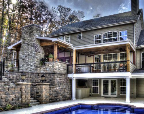 29 best outdoor rooms images on pinterest outdoor rooms for Outdoor kitchen under deck