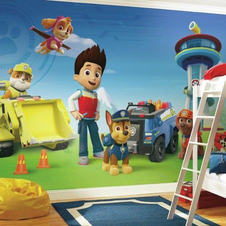 Paw Patrol Wall Mural For Kids Bedrooms