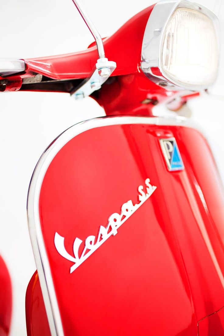 1965 Super Sport Vespa in Candy Apple Red by Kailey J. Flynn Photography