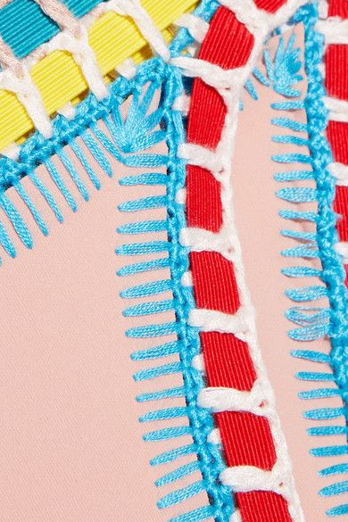 Kiini - Luna Crochet-trimmed Bikini Briefs - Neutral - large