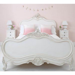 Provencal Louis XV White Luxury French Bed. The French Bedroom Company currently offers 10% off any mattress with this bed.