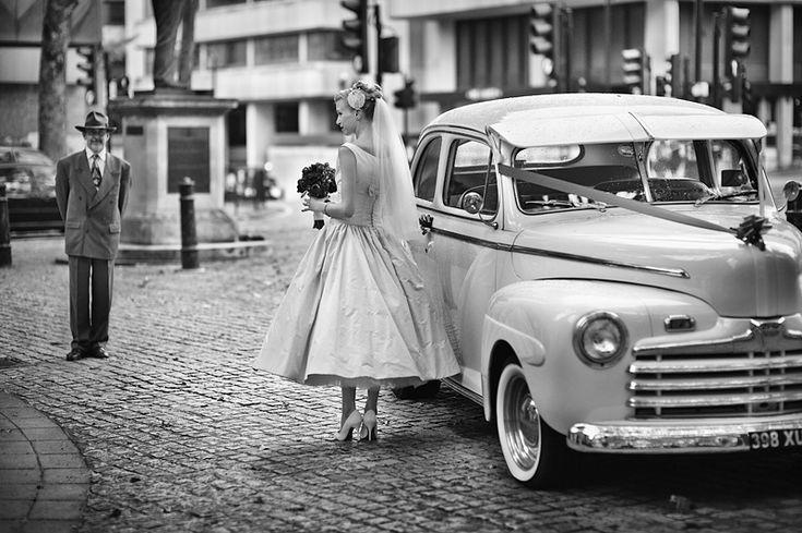 1950's wedding photograph