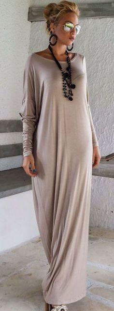 Azbro Fashion Solid Color Maxi Dress