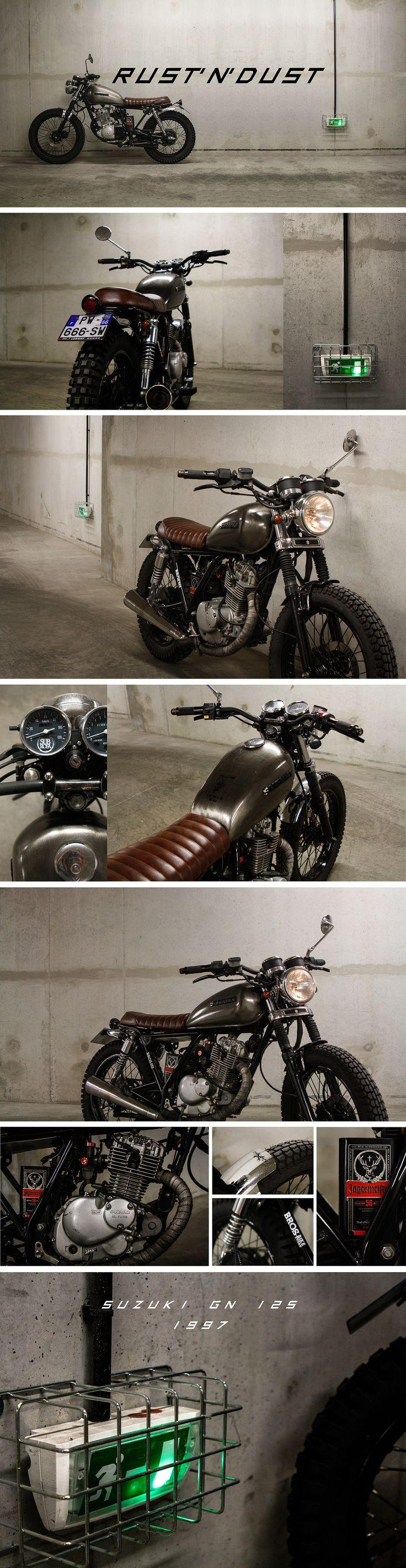 Suzuki GN 125 street tracker bratstyle scrambler cafe racer custom motorcycle honda cm moto