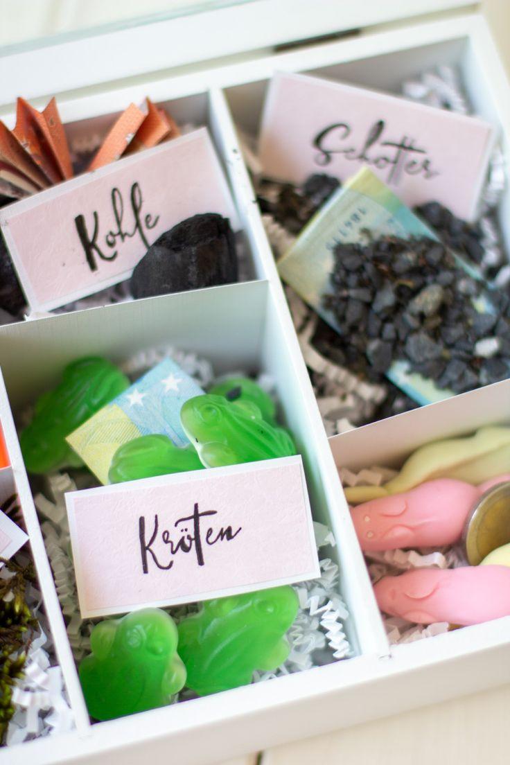 DIY kreatives Geldgeschenk in der Holzbox (SOS-Ges…