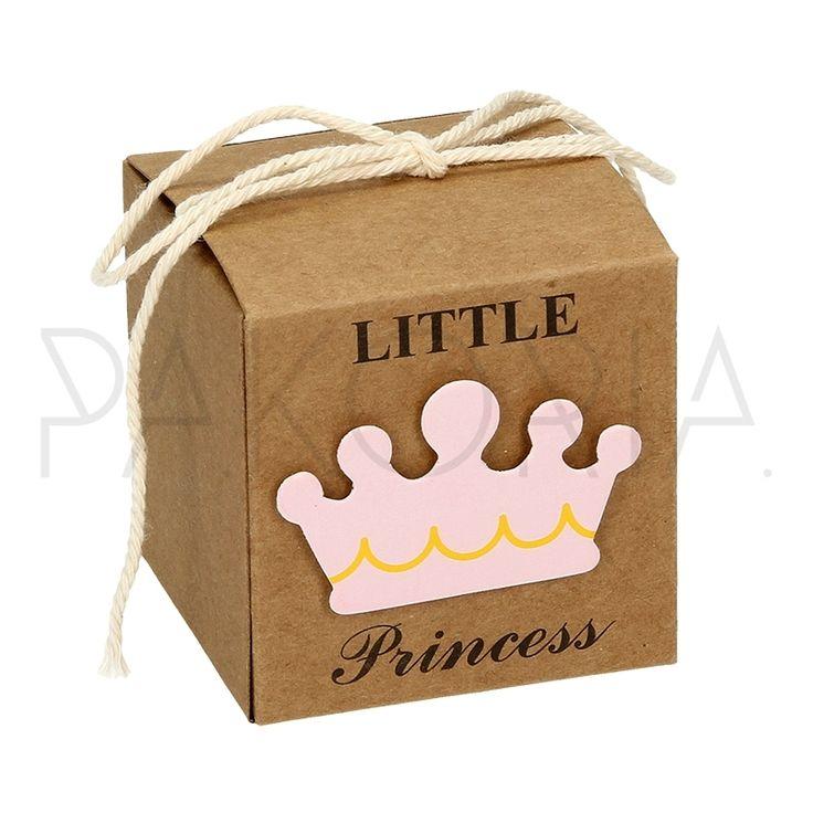 Pudełko ECO RÓŻOWA KORONA  z kokardą. Pudełko WÓZEK DZIECIĘCY różowy. Idealne na chrzest, roczek, baby shower, gender party, kinder party. Inspiracje. pakoria.pl Inspiration, pink cute baby crown, Royal, little princess.