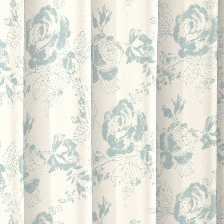 Combine casual style with classic elegance with the Patton Cotton Shower Curtain. This updated transitional shower curtain features a textured, watercolor floral in a soft color palette creating the perfect amount of style and sophistication. 12 button holes allow for easy hanging with shower hooks or rings. Pair this 100% cotton curtain with a plastic shower liner to get the most protection and performance.