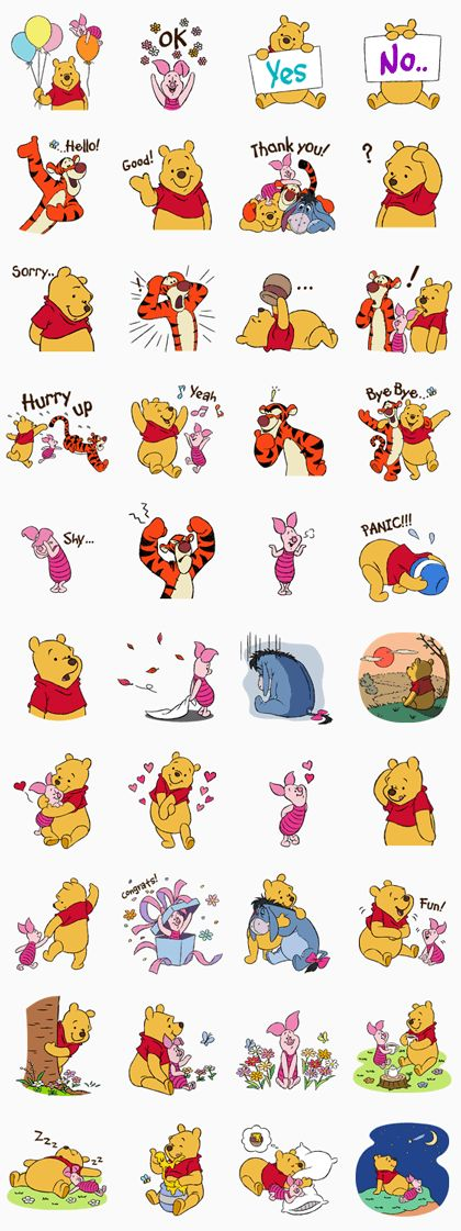 The lovely friends from Hundred Acre Wood are back again♪ Find more sweet, charming expressions and heartwarming moments in this new set of stickers★