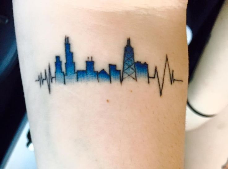 Chicago skyline tattoo bing images for Cleveland skyline tattoo