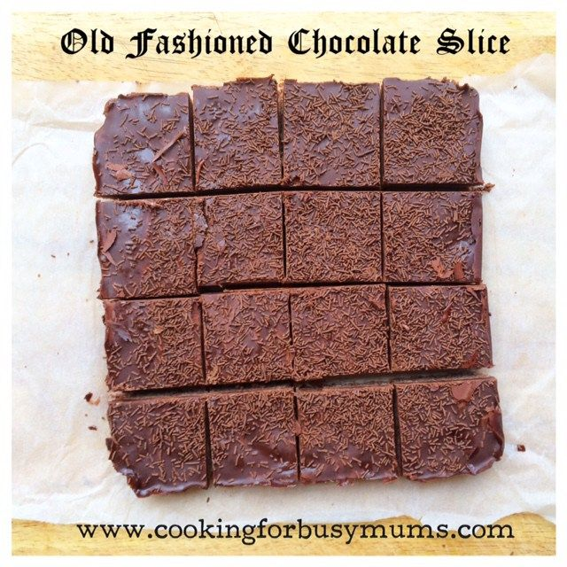 Old Fashioned Chocolate Slice