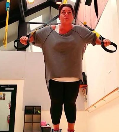 @Coach Tulin  is rocking her Lola Skinny Capris to look and feel her best while she trains!   The Capri is on sale now at www.lolagetts.com!  #train #fit #shop #plussize #curvy #motivation
