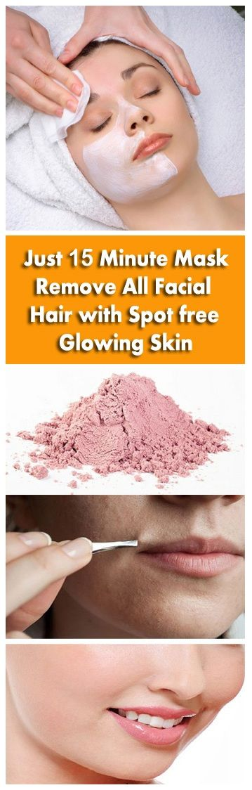 15 Minutes Mask That Can Remove All Facial Hair With Spot Free Glowing Skin