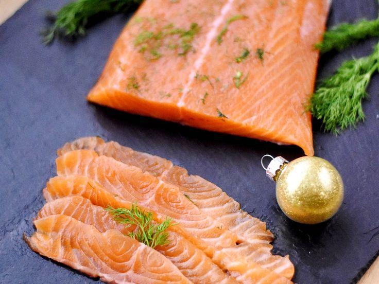 Saumon cru mariné ('gravad lax' en suédois)
