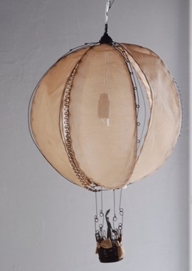 wire and fabric to make a fabulous hot air balloon... love this.