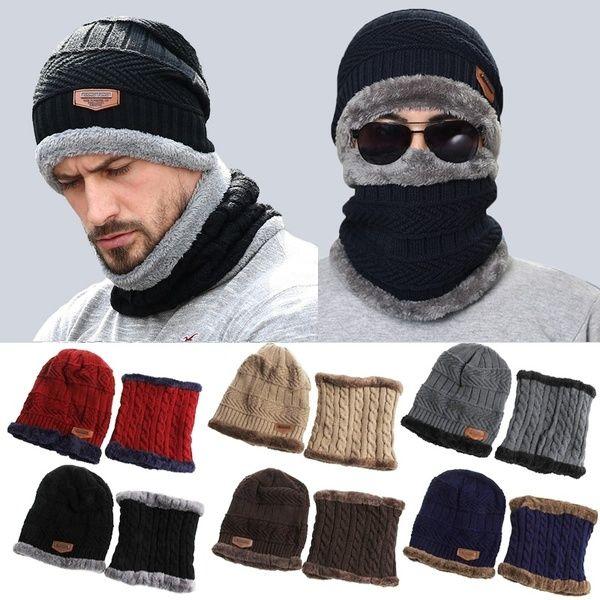 MEN/'S BOYS THERMAL FLEECE LINED WINTER  BEANIE SKI TRAPPER  OUTDOORS  HAT CAP