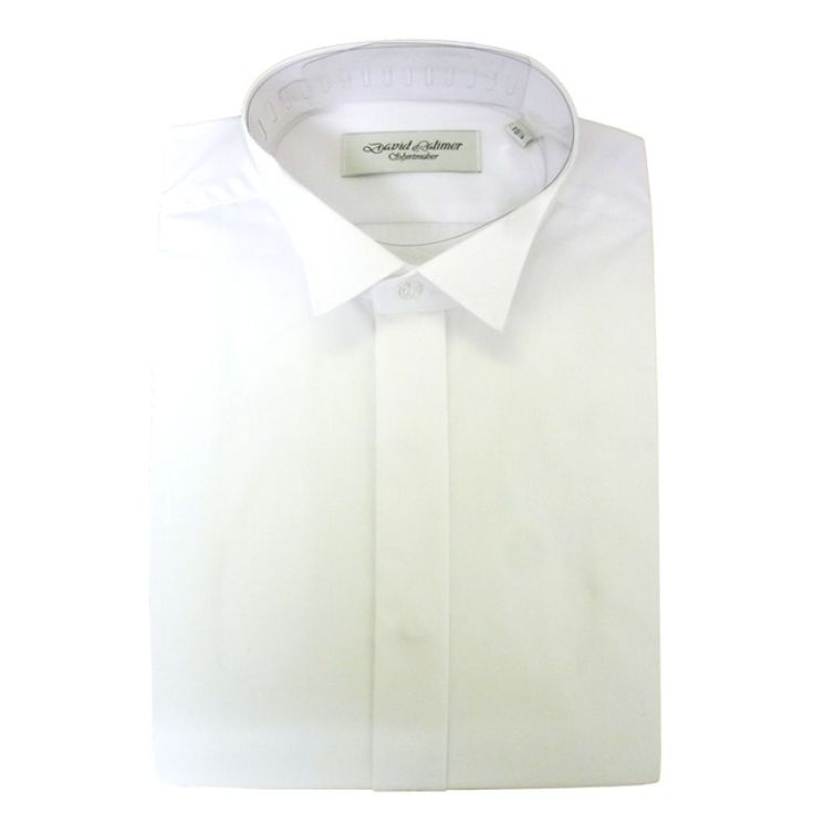 Dress Shirt Plain Front Wing Collar