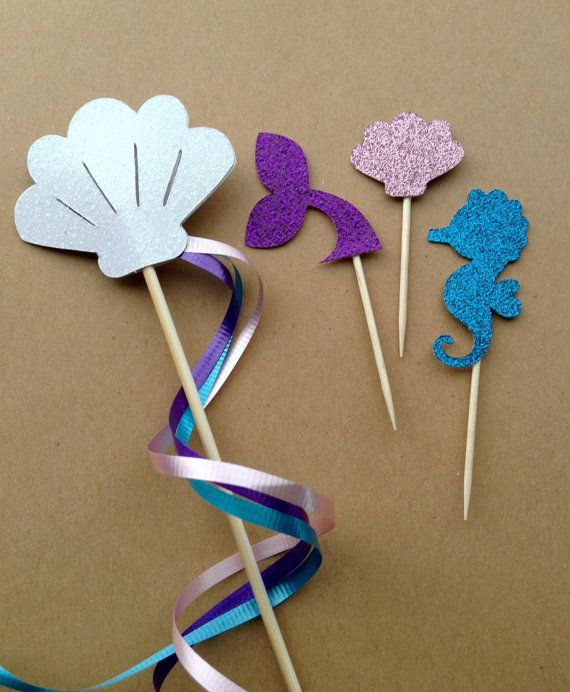 Little Mermaid Party Pack. Little Mermaid party with purple, teal, and blush