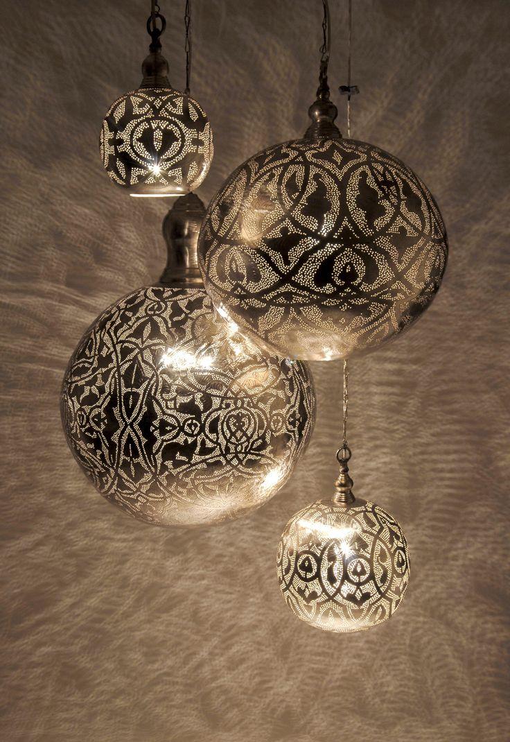 The Zenza Filigrain Ball pendant light collection is just gorgeous! The effects created by these wonderful lights are magical and very effective! For more details click this link http://www.pomegranate-living.com/zenza-filigrain-ball-medium-pendant-light.ir?cName=brands-zenza-lighting £180.00